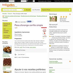 Recette de Peau d'orange confite simple