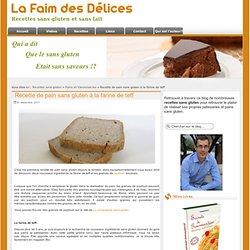 Recette de pain sans gluten à la farine de teff