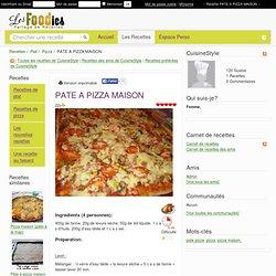 Recette de PATE A PIZZA MAISON