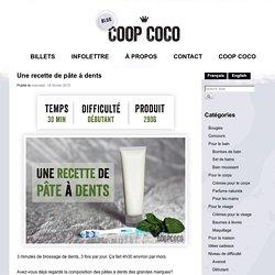 Une recette de pâte à dents - Blog de Coop Coco