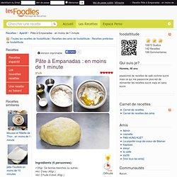 Recette de Pâte à Empanadas : en moins de 1 minute
