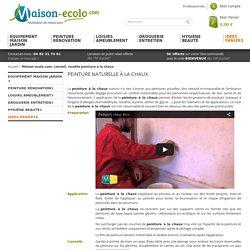 Maison-ecolo.com: recette peinture à la chaux, badigeon à la chaux