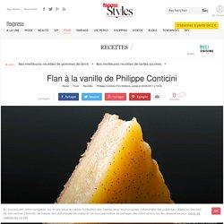 Flan à la vanille de Philippe Conticini