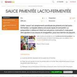 Sauce pimentée lacto-fermentée