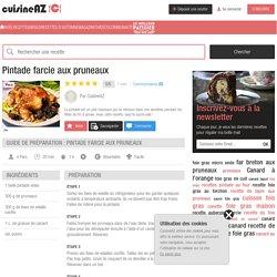 Recette Pintade farcie aux pruneaux (facile, rapide)