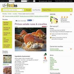 Recette de Pintxos salade russe & crevettes