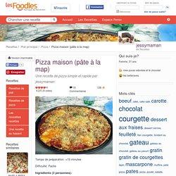Recette de Pizza maison (pâte à la map)