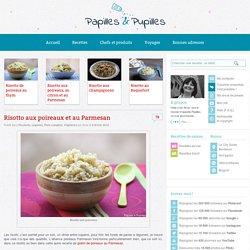 Recette de risotto aux poireaux et au parmesan