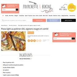 Recette de Pizza light au potiron rôti, oignons rouges et comté