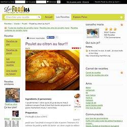 Recette de Poulet au citron au four!!!