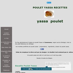 Recette du poulet yassa