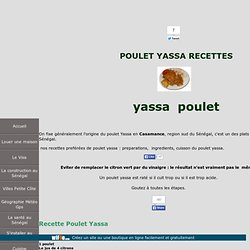 poulet yassa senegal