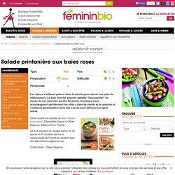 Recette Salade printanière aux baies roses