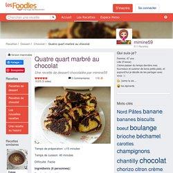 Recette de Quatre quart marbré au chocolat