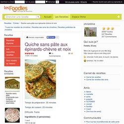 Recette de Quiche sans pâte aux épinards-chèvre et noix