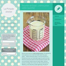 Recette de base : crème prise salée (quiche)