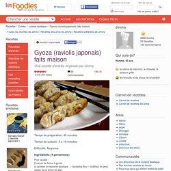 Recette de Gyoza (raviolis japonais) faits maison