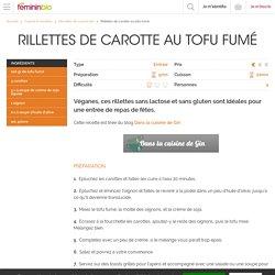 Recette Rillettes de carotte au tofu fumé