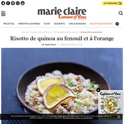 Recette risotto de quinoa au fenouil et à l'orange