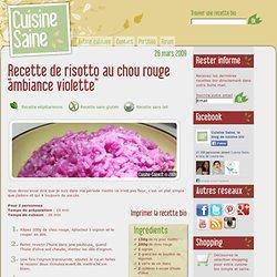 Recette de risotto au chou rouge
