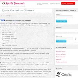 Recette risotto thermomix