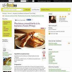 Recette de Rouleaux croustillants à la banane (Turon Pinoy)