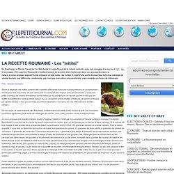 """LA RECETTE ROUMAINE - Les """"mititei"""""""