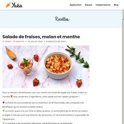 Recette d'été : Salade de fraises, melon et menthe