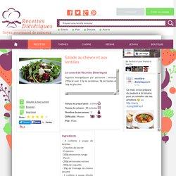 Recette de Salade au chèvre et aux lentilles