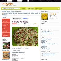 Recette de Salade de pâtes.