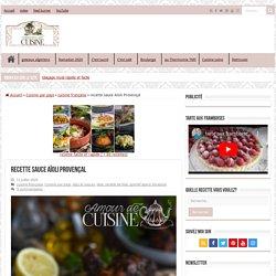 recette sauce Aïoli Provençal