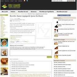 Recette: Sauce espagnole (pour du thon) - Sauce - recette facile