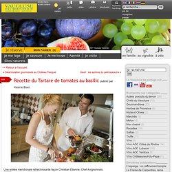 Recette du Tartare de tomates au basilic - Savourez la Provence