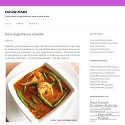 Recette simple et rapide - Curry rouge thaï aux crevettes