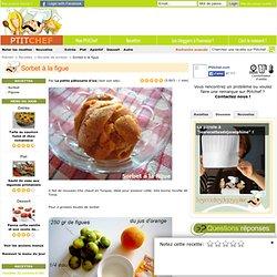 Recette Sorbet à la figue par La petite pâtisserie d'iza