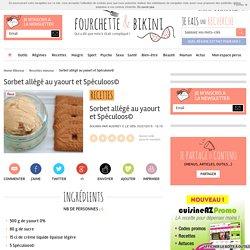 Recette de Sorbet allégé au yaourt et Spéculoos©