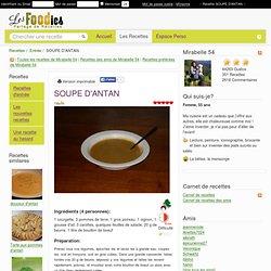 Recette de SOUPE D'ANTAN