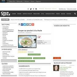 Recette Soupe au poulet à la thaïe