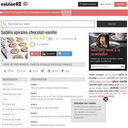 Recette Sablés spirales chocolat-vanille (facile, rapide)