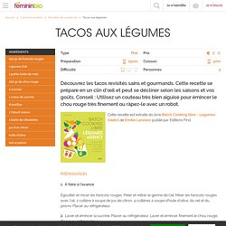 Recette Tacos aux légumes