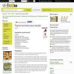Recette de Tajine tunisien (aux oeufs)