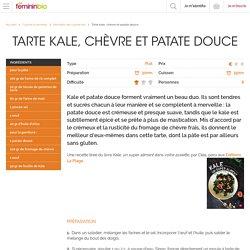 Recette Tarte kale, chèvre et patate douce