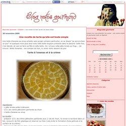 Une recette de tarte qu'elle est toute simple - Blog-notes gourmand