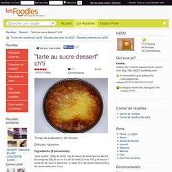 """Recette de """"tarte au sucre dessert"""" ch'ti"""