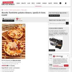 Recette de Tartelette patates douces, speck et vieux comté