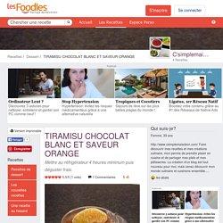 TIRAMISU CHOCOLAT BLANC ET SAVEUR ORANGE