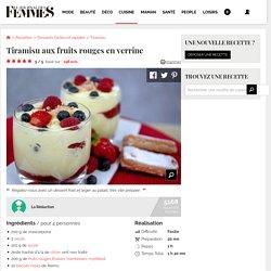 Recette de Tiramisu aux fruits rouges en verrine