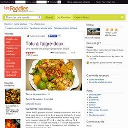 Recette de Tofu à l'aigre-doux