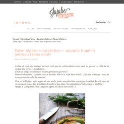 """Recette de tarte légère """"tourbillon"""" saumon fumé et poireau (sans oeuf)"""