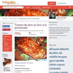 Recette de Travers de porc au four a la provencale